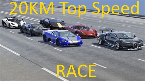 20 Kmtop Speed Race Koenigsegg One 1 Regera Bugatti