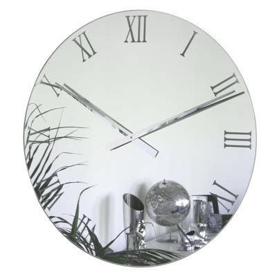 Clocks And Mirrors Uk Roco Verre Large Mirror Wall Clock