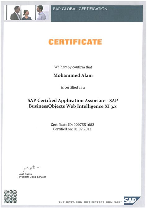 Sap Course For Mba by Sap Bo Resume Resume Ideas