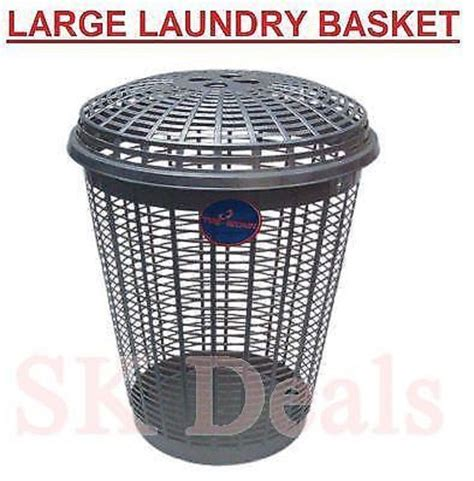Large Plastic Washing Up Round Laundry Basket With Lid Plastic Laundry With Lid