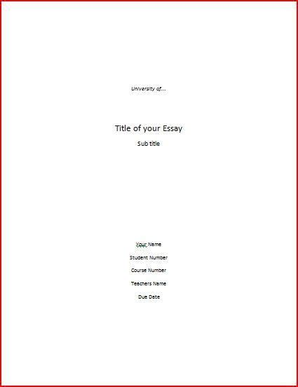 Essay Title Page by Title Page In Mla Format Topic Discussion Gamespot