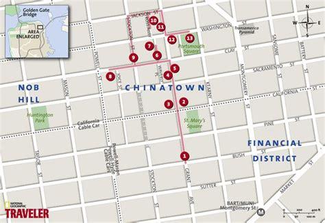 san francisco map of chinatown san francisco walking tour chinatown national