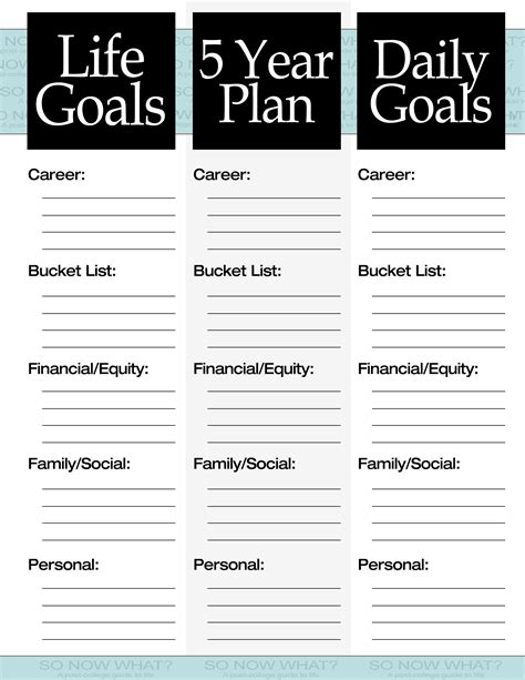 5 year goal plan template the 3 steps to a 5 year plan so now what