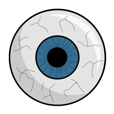 halloween eyeball coloring page drawing a cartoon eyeball