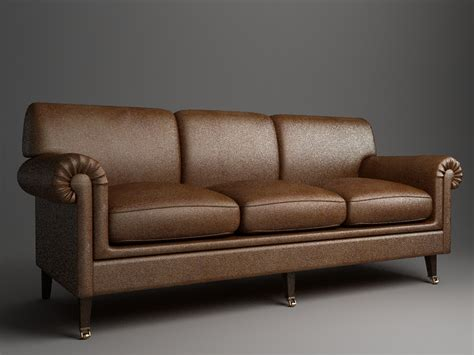 sofa 3ds rolled arm sofa 3 3d model other home and office furniture