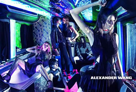 alexander wangs party bus spring  ad campaign