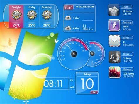 gadget de bureau windows 7 windows 7 gadgets pack 1 0 t 233 l 233 charge th 232 mes