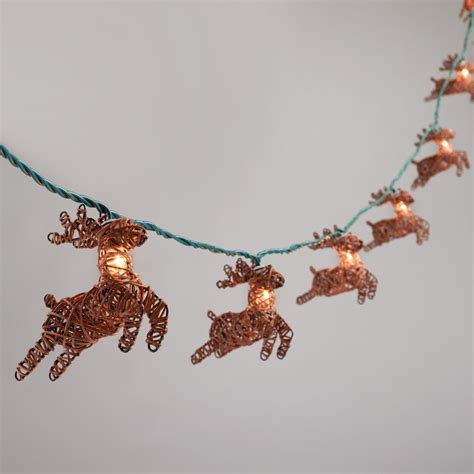 Rattan Reindeer 10 Bulb String Lights World Market Rattan String Lights