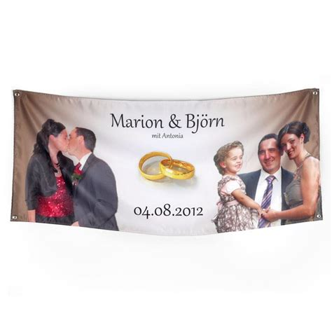 Wedding Banners Personalised by Custom Banners And Personalised Fabric Banners With Photos