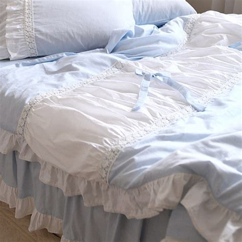 blue ruffle bedding blue ruffle bedding 28 images cream pastel blue floral