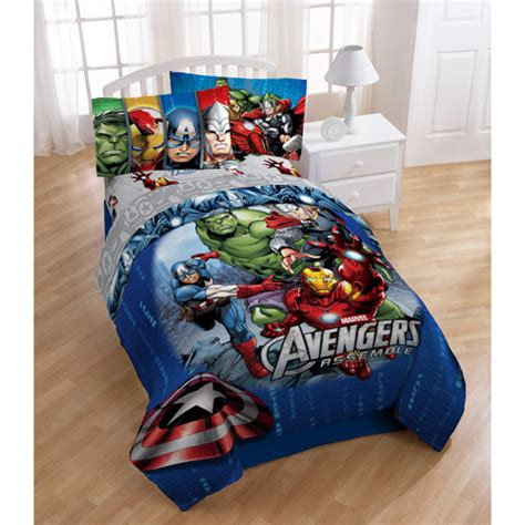 avengers twin bedding set avengers reversible full twin bedding comforter walmart com