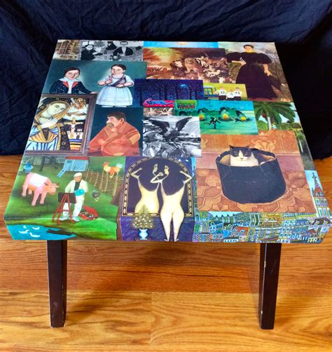 Decoupage Laminate Furniture - table in bloom gallery in bloom gallery