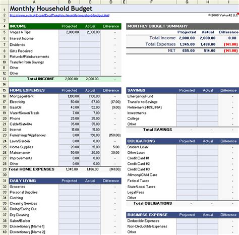 free excel personal budget template youtube