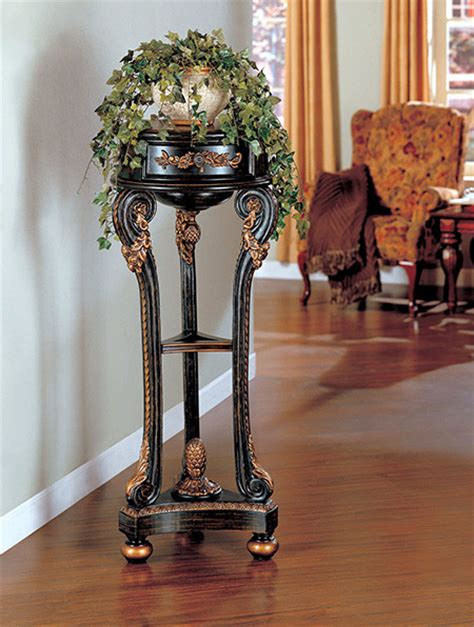 plant stand  curved leaf designs traditional