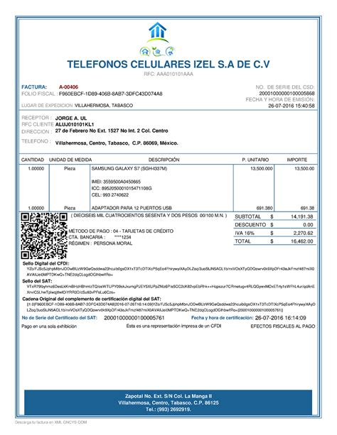 requisitos deducibilidad facturas 2016 ejemplo cfdi gncys factura electr 243 nica 2017