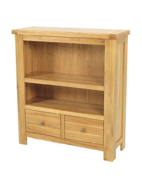 Bookcase With Shelves And Drawers by Elmwood Bookcase 1 Shelves 2 Drawers Low
