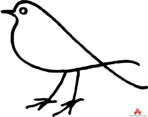 outline clipart bird outline image