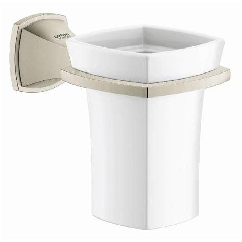 shop grohe grandera brushed nickel infinity 1 handle freestanding bathtub faucet at lowes com shop grohe grandera brushed nickel infinity ceramic