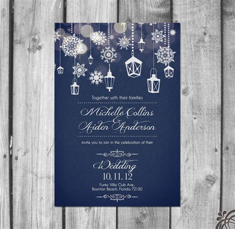 Winter Wedding Invitation 21 Jpg Psd Indesign Format Download Free Premium Templates Winter Wedding Invitation Templates
