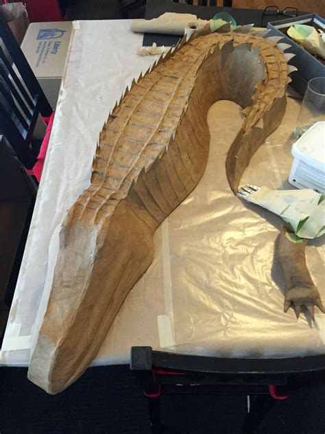 Things To Make From Paper Mache - how to make a diy paper mach 233 alligator with foam board