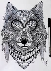 Wolf Zentangle Outline by Zentangle Wolf By Itsalana On Deviantart