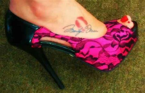 lips tattoo on foot marilyn monroe signature foot tattoo facebook com