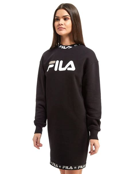 Fila Sweater Gloria White lyst fila sweater dress in black
