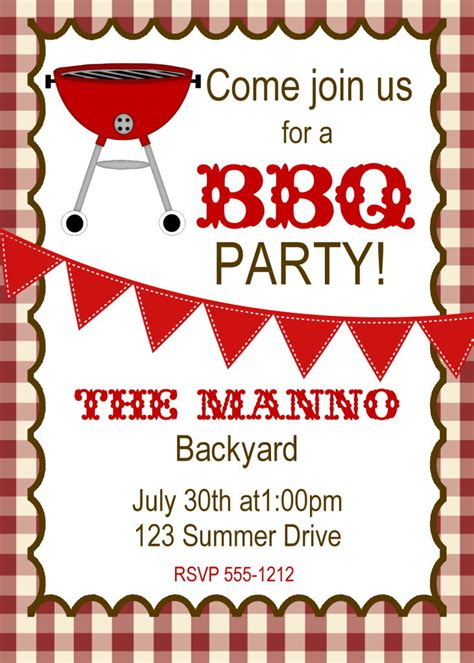 bbq invitation bbq birthday invitation graduation bbq