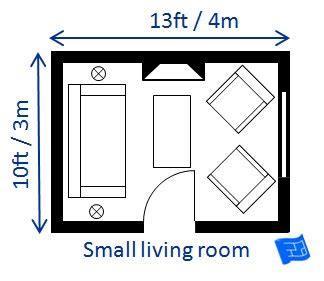 smallest bedroom size living room size