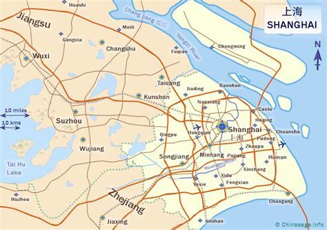 shanghai map shanghai city china