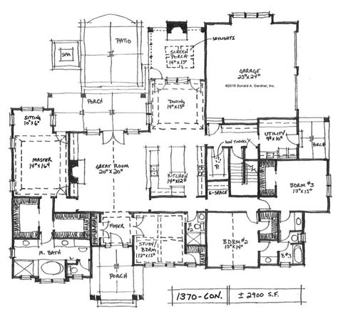 side garage floor plans open ranch house plans with side entry garage