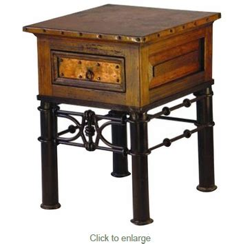 Pablo Top Table L by Copper Top End Table With Pablo Iron Base