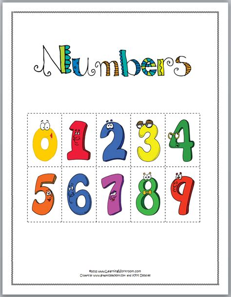printable games for learning numbers learning ideas grades k 8 may 2012