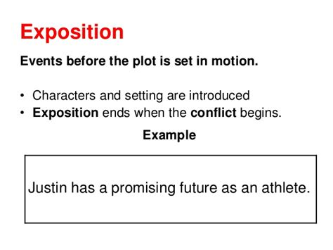 exle of exposition story structure lesson ppt