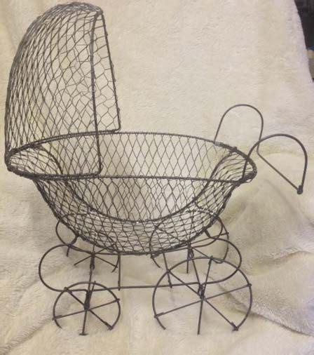 Vintage Baby Carriage Centerpiece Baby Shower Wire Wire Baby Stroller Centerpieces