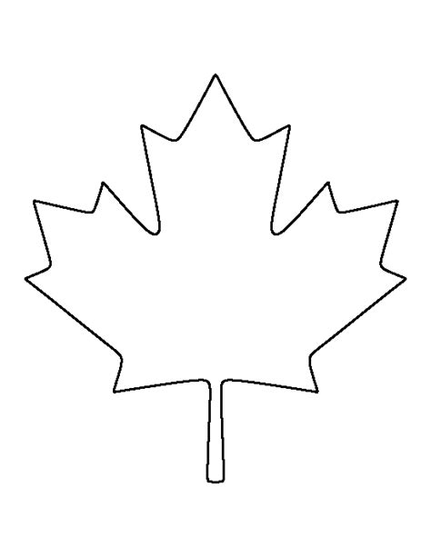 maple leaf cut out template canadian maple leaf pattern use the printable outline for
