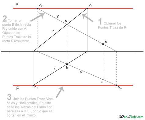 puntos rectas y planos 1 el plano en sistema di 233 drico 10endibujo