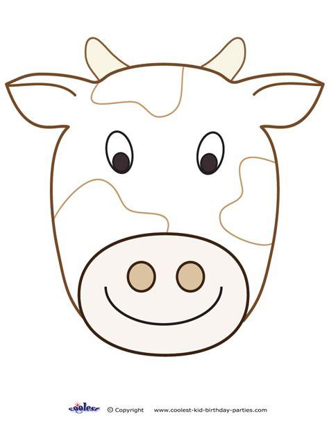 printable animal masks cow large printable cow decoration coolest free printables