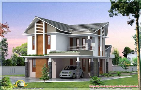 home design 3d balcony g 1 3d front elevation with car parking and balconies and slanted roof gharexpert