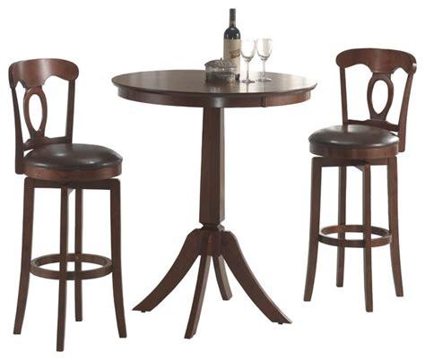 bistro table set indoor corsica brown 3 bistro set contemporary indoor