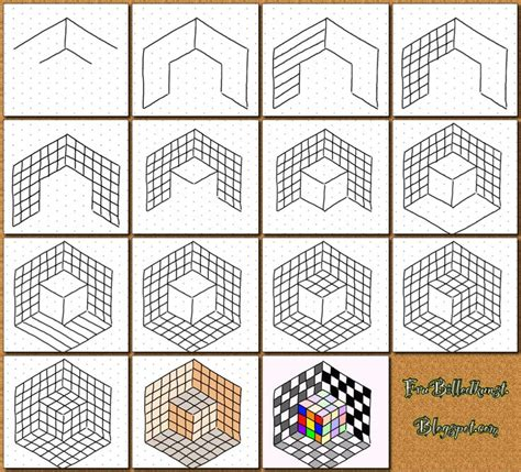 cube op art quick lesson ideas sub plans pinterest