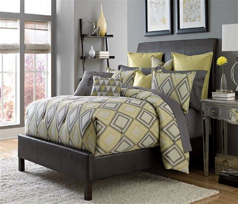 grey bedding property mus yellow and gray bedding that will make your
