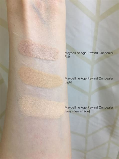 Maybelline Instant Age Rewind Shade Light maybelline age rewind concealer ivory new shade palemua