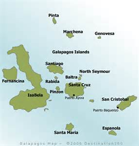 south america islands map galapagos islands