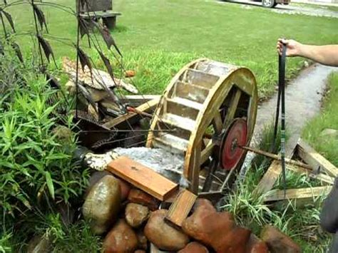 home made water wheel