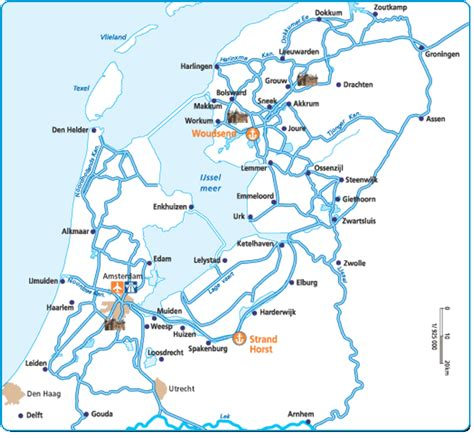 netherlands lakes map barging in le boat cruise inc