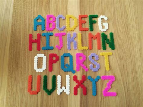 preschool ponderings perler bead alphabet letters