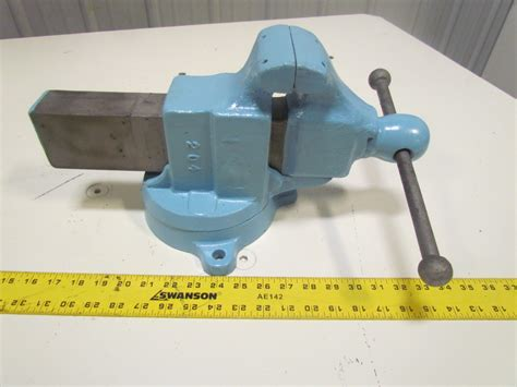 bench vice jaws yost 204 4 quot jaw machinist bench vise swivel base opens to 7 quot smooth jaws ebay