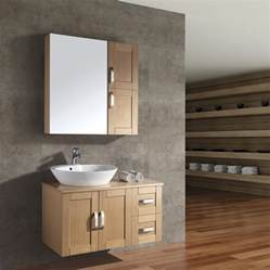 Zebra Wood Vanity China Veneered Bathroom Furniture Set Ac 9015 China