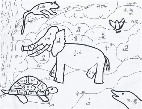 math animal coloring pages math coloring pages 7 coloring kids